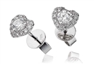 Image for 0.60ct Classic Round Diamond Single Halo Earrings