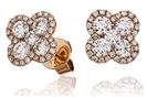 Image for Clover Round Diamond Cluster Earrings