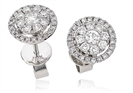 Image for Classic Round Diamond Halo Earrings