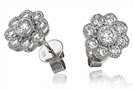 Image for 1.10CT Classic Round Diamond Halo Earrings
