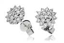 Image for Classic Round Diamond Cluster Earrings