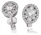 Classic Round Diamond Cluster Earrings