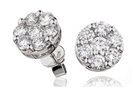 Image for 2.00CT Classic Round Diamond Cluster Earrings