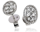 1.00CT VS/EF Round Diamond Cluster Earrings