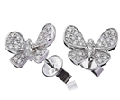 0.50CT Modern Designer Butterfly Round Diamond Earrings