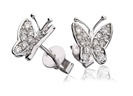 Image for Modern Designer Butterfly Round Diamond Earrings