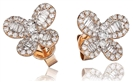Image for Modern Designer Round Diamond Butterfly Earrings