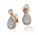 Image for Modern Round Diamond Drop Earrings