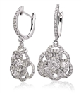 Image for Modern Designer Round Diamond Drop Earrings