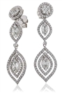 Image for Elegant Marquse/Round Diamond Drop Earrings