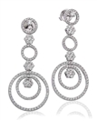 Image for Modern Round Diamond Circle Drop Earrings
