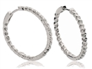 Image for Modern Round Diamond Hoop Earrings