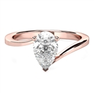 Image for Modern Twist Pear Diamond Engagement Ring
