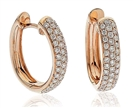 Image for Elegant Round Diamond Hoop Earrings