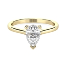 Image for Stylish Pear Diamond Engagement Ring