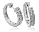 Elegant Round Diamond Hoop Earrings