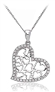 Image for Modern Round Diamond Heart Pendant