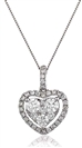 Image for 0.70CT Classic Round Diamond Heart Pendant