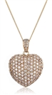 Image for Classic Ecrusted Round Diamond Heart Pendant