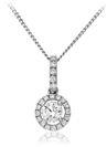 Image for Round Diamond Halo Pendant