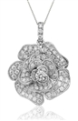 Image for 0.60CT Cluster Round Diamond Designer Pendant