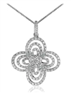 Image for Cluster Round Diamond Designer Pendant