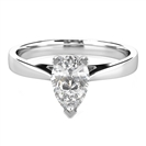 Modern Pear Diamond Engagement Ring