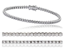 Classic Single Row Diamond Tennis Bracelet