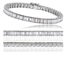 Image for Classic Single Row Diamond Tennis Bracelet