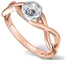 Image for Elegant Infinity Twist Round Diamond Engagement Ring
