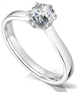 Image for Six Claw Twist Round Diamond Engagement Ring