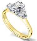 Image for Modern Oval & Round Diamond Designer Ring