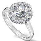Image for Elegant Oval Diamond Single Halo Ring