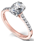 Image for Traditional Oval Diamond Shoulder Set Ring