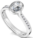 Image for Modern Oval Diamond Shoulder Set Ring