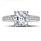 Image for Classic Asscher Diamond Shoulder Set Ring