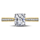Image for Asscher Diamond Shoulder Set Engagement Ring