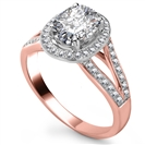 Image for Oval Diamond Single Halo Engagement Ring