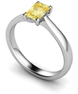 Elegant Fancy Yellow Radiant Diamond Engagement Ring