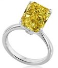Image for Elegant Fancy Yellow Radiant Diamond Engagement Ring