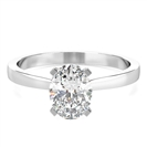 Image for Classic Oval Diamond Engagement Ring