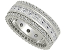 Image for 2.70ct 3 Row Diamond Full Eternity/Dress Ring