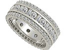Image for 2.20CT 3 Row Diamond Full Eternity/Dress Ring