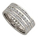 Image for 2.00CT Triple Row Diamond Full Eternity/Dress Ring