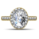GIA CERTIFIED 0.50CT VS2/D Oval Diamond Halo Ring