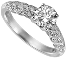 Image for Leaf Motif Round Diamond Vintage Ring