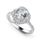 Image for Round Diamond Spiral Double Halo Designer Ring