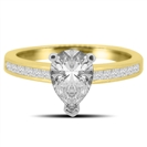 Image for Classic Pear/Princess Diamond Shoulder Set Ring