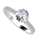Elegant Round Diamond Shoulder Set Engagement Ring