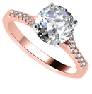Image for Stylish Round Shoulder Set Diamond Engagement Ring